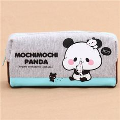 gey brown cute black white panda pencil case by Kamio 2