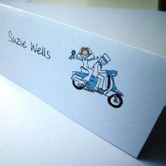 Lambretta Wedding Placecards