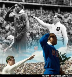 Jesse Owens and Luz Long on Podium.  RACE (2016) Starring Stephan James, Jason Sudeikis, William Hurt
