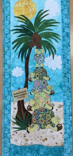 Tipsy Turtles, row by row quilt 2015 at The Crafty Ladies