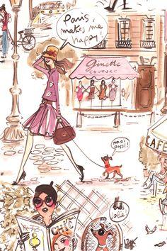 Paris Makes Me Happy by Izak | DecalGirl