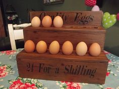 reclaimed wood egg holder by woods vintage home interiors | notonthehighstreet.com