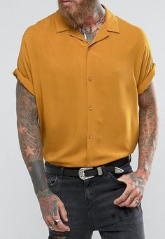 ASOS Oversized Viscose Batwing Sleeve Shirt  from ASOS (men, style, fashion, clothing, shopping, recommendations, stylish, menswear, male, streetstyle, inspo, outfit, fall, winter, spring, summer, personal)
