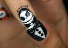 Jack Skellington Nails - so cool!