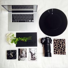 Flat lay from @banks_blog. Black and white monochorme.