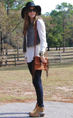 love the vince Camuto Panama hat and Vince Camuto Sparkle Boots