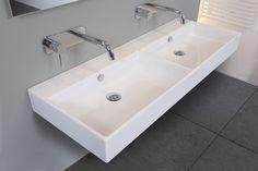 Ink Unlimited dubbele wastafel 140x45 cm | badkamer | bathroom | dubble sink | bewonen.nl
