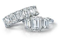The Emerald Cut Ring Set at Garrard
