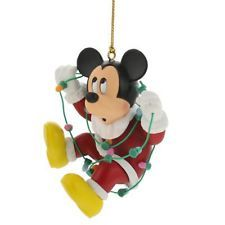 Disney Christmas Magic Grolier Tree Ornament Figurine Mickey Mouse w/ Lights
