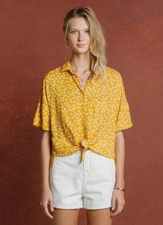 CAMISA MANGA CURTA PADRAO LIMONCELLO - Blusas e t-shirts - Verão na Toscana - Cantão