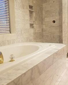 Marble tub and shower   Trident Tile and Stone Design Studio