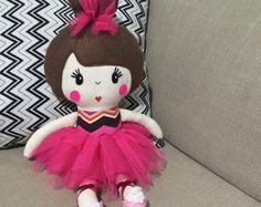 Ballerina Handmade Doll Rag Doll Fabric Dolls by SewManyPretties
