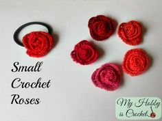 Crochet rolled rose, free pattern