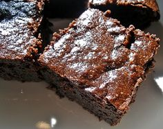 Sourdough brownies:  Almost akin to a flourless chocolate cake, these are dark, rich and yes, melt in your mouth chocolatey brownies. These are not as sweet as most brownies, but super rich and satisfying.