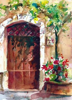 Watercolor Painting Gallery, Provence, France