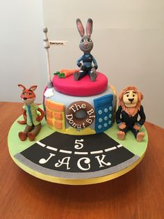 Zootopia - Jacks cake finally finished for his  5th birthday today with the help of ideas from Pinterest