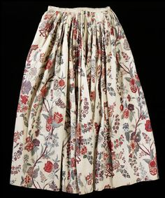 1750, India for the Western market, probably worn in the Netherlands - Petticoat - Painted and dyed cotton chintz