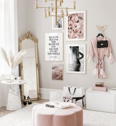 Gallery Wall Inspiration - Shop your Gallery Wall Room Ideas Bedroom, Room Decor Bedroom, Living Room Decor, Bedroom Shelves, Bedroom Signs, Master Bedroom, Glam Room, Aesthetic Room Decor, Inspiration Wall