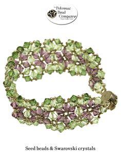 Triangle weave bracelet from Potomac Bead Company    www.potomacbeads.com
