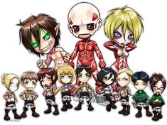 Attack on Titan Chibi Group by ghostfire on DeviantArt [Adorable]
