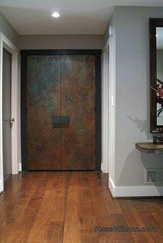 Gorgeous doorway created with the help of Modern Masters products Modern Entrance Door, Modern Door, Entrance Doors, Main Door Design, Front Door Design, Front Door Colors, Vintage Industrial Furniture, Industrial Door, Porte Design