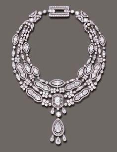 Belle Époque diamond and pearl pendant necklace | Cartier