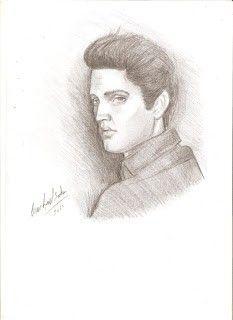 Elvis Presley-tecnica lapiz
