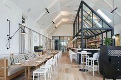 The Old Library is a stunning renovation, transformed by Hecker Guthrie studio from an original church then library, and finally to a restaurant.