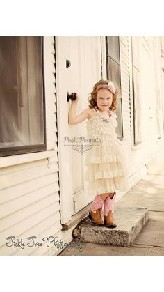 MICHELLE!!!! lace baby Dress lace girl dress ivory glower by PoshPeanutKids, $35.00