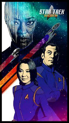 Star Trek: Discovery - The Vulcanian Expedition by GeekFilter on DeviantArt New Star Trek, Star Wars, Uss Discovery, Discovery 2017, Star Trek Poster, Starfleet Academy, Star Trek Series, Tv Series, Michelle Yeoh
