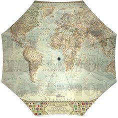 Cool Umbrellas, Travel Umbrella, Vintage World Maps, Amazon, Art, Fashion, Art Background, Moda, Amazons