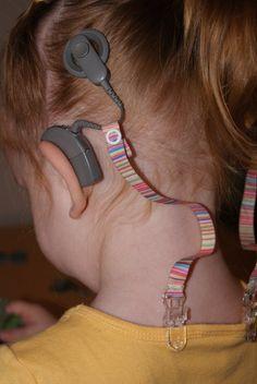 Implante coclear cinta amarre el Clip en por crookedtailcrafts
