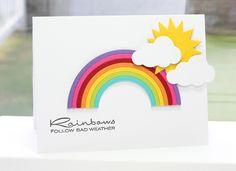 Cheerful Blessings; Rainbow Die-namics; Jumbo Cloud STAX Die-namics; Sunshine Die-namics - Lisa Johnson