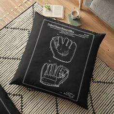 Vintage Baseball Pillows & Cushions   Redbubble Daybed Pillows, Cushions, Patent Office, Baseball, Vintage, Design, Throw Pillows, Toss Pillows