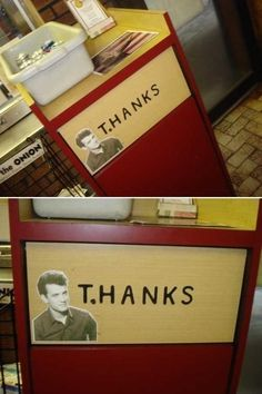 When Tom Hanks took out the garbage. I am SO doing this the next time I see a garbage can! :D