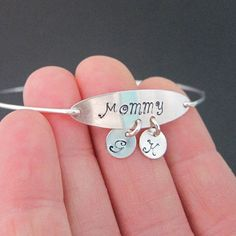 Personalized Gift for Mom - Personalized Mothers Day Gift - Mom Birthday Gift  Tell me which of the following you would like stamped on your bracelet in notes to seller during checkout.  Mommy Mother Grandma Best Mom Best Nana We ♥ Mom We ♥ Nana A custom choice - please specify Personalized Mother's Day Gifts, Personalized Bracelets, Handmade Bracelets, Earrings Handmade, Handmade Jewelry, Best Mothers Day Gifts, Mother Day Gifts, Best Gifts, Mother Birthday