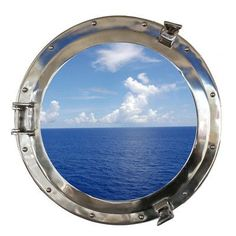 """Handcrafted Nautical Decor Deluxe Class Porthole Window Wall Décor Size: 20"""" H x 20"""" W x 3"""" D, Finish: Chrome"""