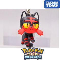 GASHAPON TOMY TAKARA Pokemon Sun and Moon Netsuke Mascot Cellphone Strap LITTEN