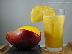 Pineapple juice and mango