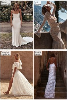 Aussie bridal brand Grace Loves Lace, creators of the most pinned wedding dress, has recently come out with a handful of stunning designs as unique as each astrological sign. We've curated 12 gowns below that are most symbolic of each zodiac sign.