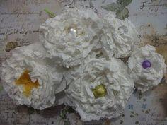 DIY: Flores de papel toalha.
