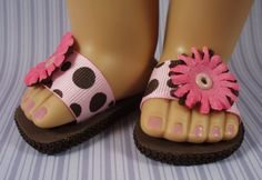 Sandals Pink and Brown