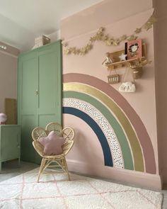 Big Girl Bedrooms, Little Girl Rooms, Girls Bedroom, Baby Room Decor, Nursery Room, Bedroom Decor, Rainbow Room, Kids Room Design, New Room