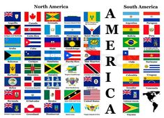 Flags of North and South America by Believeinme, via Dreamstime All World Flags, World Country Flags, Country Maps, North America Flag, North And South America, Preschool Social Studies, Social Studies Worksheets, Countries And Flags, Countries Of The World