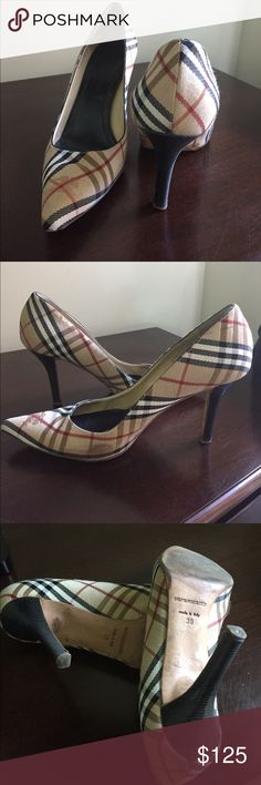 Burberry heels Burberry heels, over 15 years old, worn but still have years to go Burberry Shoes Heels
