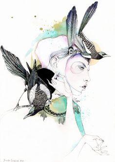 magpie by black-letter-day.deviantart.com on @deviantART