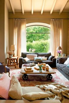 Great living room, eclectic mix