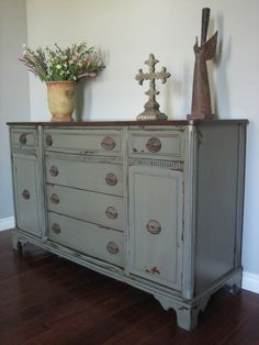 Gray Green Sideboard Buffet