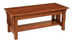 Amish Leah Mission Small Coffee Table - Quick Ship Gorgeous wood coffee table in mission style. Amish made in America. #coffeetable #accenttables #livingroom