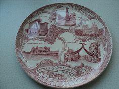 Souvenir Plate of Salt Lake City Utah Pink by Treasures102 on Etsy, $19.99